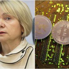 V. Ačienė siūlo reglamentuoti virtualių valiutų keityklų operatorių veiklą
