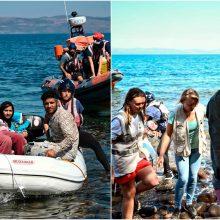 Egėjo jūroje pasieniečiai išgelbėjo migrantus, tebeieško dingusio kūdikio