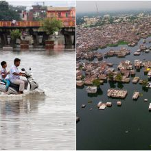Indiją skalauja liūtys ir potvyniai: žuvo 127 žmonės
