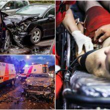 Nelaimės šalies keliuose tęsiasi: per savaitę žuvo trys žmonės, 108 – sužeisti