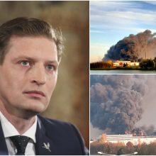 Aplinkos ministras kreipėsi į prokuratūrą: ar gaisras Alytuje buvo sukeltas tyčia?