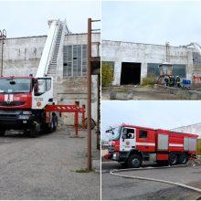 Ekstremali padėtis dėl gaisro gamykloje paskelbta ir Alytaus rajone