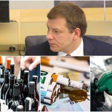 V. Šapoka: akcizų kėlimas leis įgyvendinti aplinkosaugos ir sveikatinimo tikslus