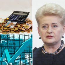D. Grybauskaitė svarstomą biudžetą prilygino bolševizmui: didinti mokesčius – klaida
