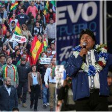 Bolivijos opozicija surengė visuotinį streiką dėl prezidento rinkimų rezultatų