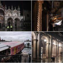 Veneciją užliejo aukščiausias per daugiau kaip pusšimtį metų potvynis