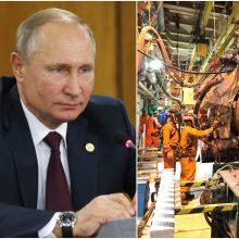 V. Putinas: dujų tranzito per Ukrainą nutraukimo rizika egzistuoja