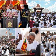 Inauguruotas Šri Lankos prezidentas G. Rajapaksa dėmesį skirs nacionaliniam saugumui