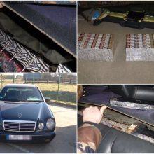 Pasieniečiams įkliuvo vilnietis: kontrabandą slėpė už galinės automobilio sėdynės
