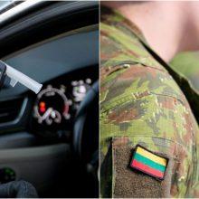 Panevėžio rajone neblaivus karys vairavo automobilį