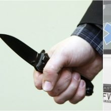 Jonavos rajone neblaivus įtariamasis peiliu dūrė vyrui į pilvą
