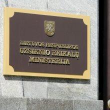 Ministerija: Lietuva nelaiko A. Lukašenkos teisėtu Baltarusijos vadovu