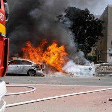 Izraelio pietuose per raketų ataką iš Gazos Ruožo žuvo du žmonės