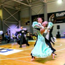 """Tradicinės tarptautinės sportinių šokių varžybos  """"Rudens taurė"""" atjaunėjo"""