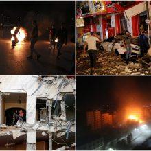 Tarp palestiniečių ir Izraelio naktį tęsėsi kruvinos kovos: paleista daugiau nei 300 raketų