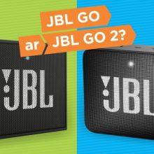 """Mobilių kolonėlių palyginimas: kurią rinktis – """"JBL GO"""" ar """"JBL GO 2""""?"""