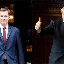 Kandidatai į Didžiosios Britanijos premjero postą: žarsto naujus pažadus