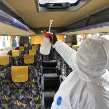 """""""Kautra"""": transporto priemonės nėra padidintos infekcijos rizikos šaltinis"""