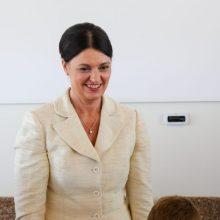 D. Nausėdienė virtualioje valstybės pažinimo edukacijoje bendravo su Vilniaus regiono moksleiviais