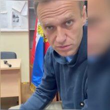 Policijos nuovadoje – posėdis dėl A. Navalno sulaikymo pratęsimo