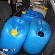 Vilniuje policija sulaikė degalų vagis ir pirkėjus