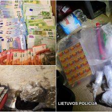 Vilniaus policija sudavė dar vieną smūgį narkotinių medžiagų platinimo rinkai