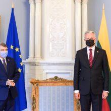 Prezidento susitikime su EP pirmininku – dėmesys migracijai ir ES sienų apsaugai