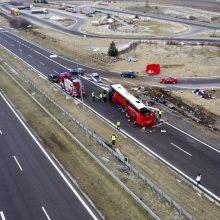 Autobuso avariją Lenkijoje išgyvenę 24 ukrainiečiai grįžo į tėvynę