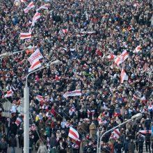 Baltarusijoje per opozicijos eitynes sulaikyta daugiau nei 100 protestuotojų