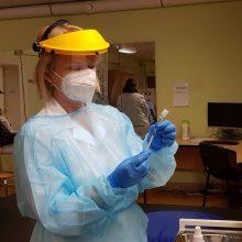 Šiaulių ligoninės medikai bus skiepijami antrąja COVID-19 vakcinos doze