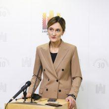 Į liberalų pirmininkes perrinkta V. Čmilytė-Nielsen: reitingai yra antraeilis dalykas