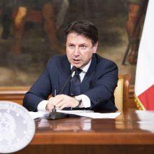 Italijos premjeras: koronaviruso pandemija kelia egzistencinį iššūkį Europai