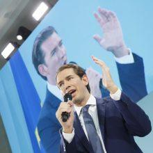 Austrijos rinkimus laimėjusio S. Kurzo laukia sunkios koalicijos partnerių paieškos