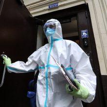 Rusijoje per parą nustatyta 8,54 tūkst. naujų COVID-19 atvejų, 178 žmonės mirė