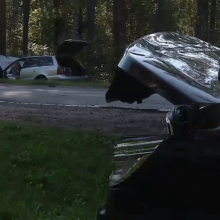 Vilniuje susidūrė du automobiliai: keleivė neteko sąmonės
