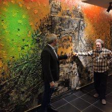 Dailininko V. Vaitkevičiaus dovana teatrui šimtmečio proga – įspūdingo dydžio freska