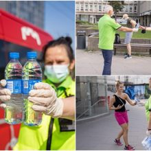 Gaivios naujienos sostinėje: vanduo stotelėse ir dar daugiau kondicionuojamo viešojo transporto