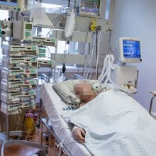 Ligoninėse gydoma per 2,3 tūkst. COVID-19 pacientų, iš jų 184 – reanimacijoje