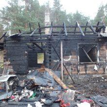 Nors namas sudegė, dūmų detektorius išgelbėjo keturių asmenų šeimą