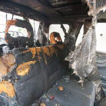Ramučiuose naktį supleškėjo krovininis automobilis: įtariamas padegimas