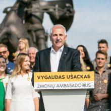 Kandidatas į prezidentus V. Ušackas: pasirinkau laiminčią Lietuvą