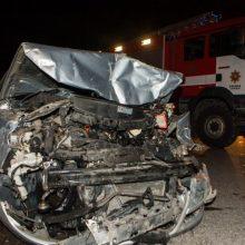 Utenos rajone girto vairuotojo kelionę sustabdė smūgis į stulpelį