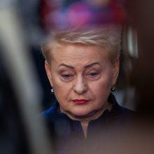 D. Grybauskaitė: bukas užsispyrimas ir klaidų neigimas – tai yra nusikalstama