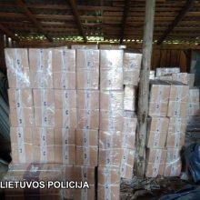 Pareigūnų laimikis – kontrabandiniai rūkalai už beveik 300 tūkst. eurų