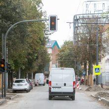 Vairuotojų kantrybę Kęstučio gatvėje išbandys naujas šviesoforas