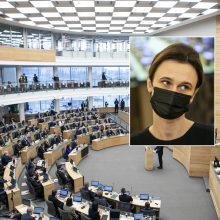 V. Čmilytė-Nielsen: COVID-19 grėsmė darys įtaką Seimo darbui