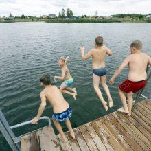 Pakaunėje vasarą netrūksta vietų maudynėms