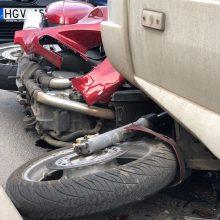 Biržų rajone – automobilio ir motociklo akistata, yra sužeistųjų