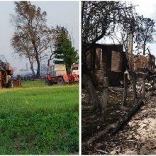 Prašo dosnių žmonių pagalbos: po gaisro ūkininkų šeima liko be nieko