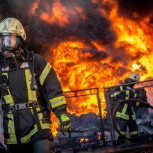 Siaubingas gaisras Šalčininkų rajone: ugnis pasiglemžė beveik 20 pastatų